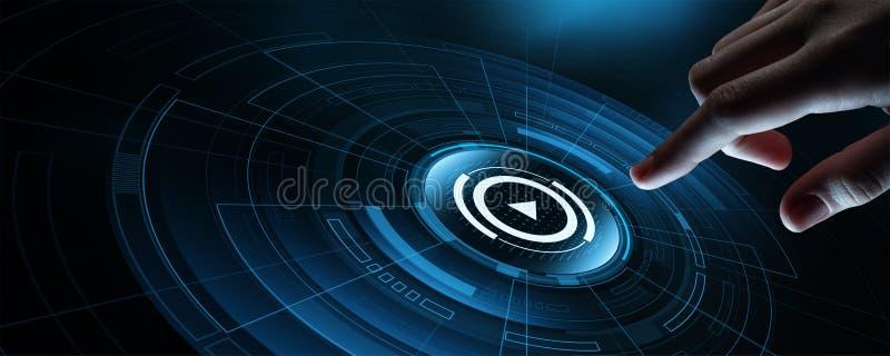 Video Marketing Reclame het Commerciële Netwerkconcept van Internet royalty-vrije stock afbeeldingen
