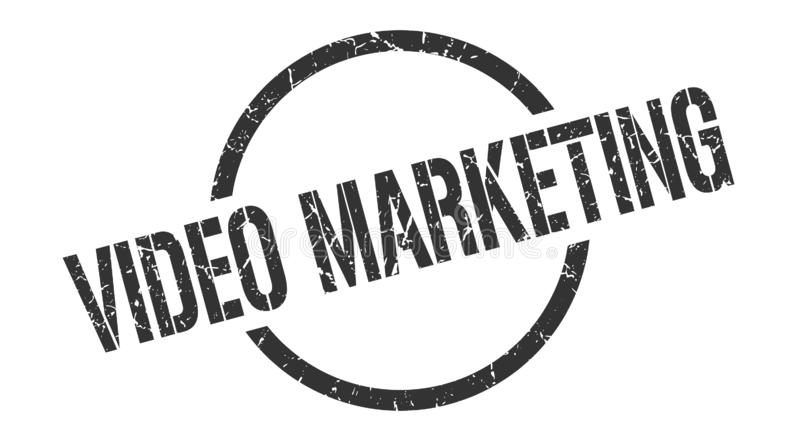 video marketing stamp vector illustration