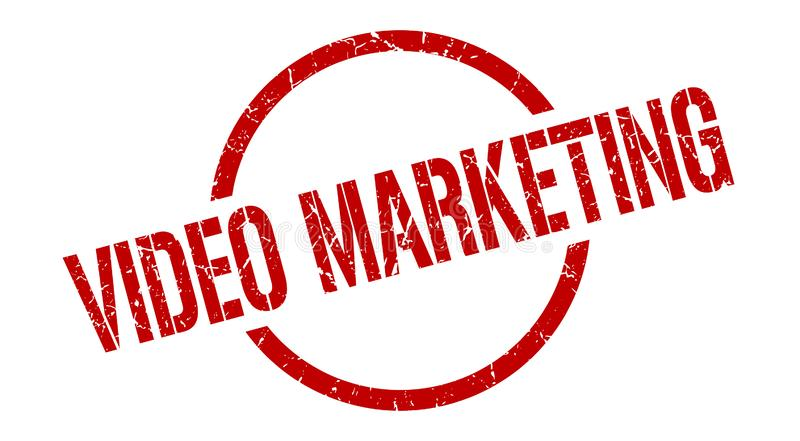 video marketing stamp stock illustration