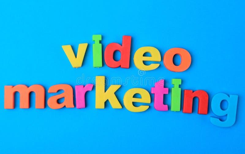 Video Marketing woorden op achtergrond royalty-vrije stock afbeelding