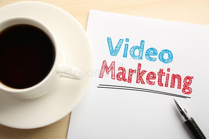 Video marknadsföring arkivbilder