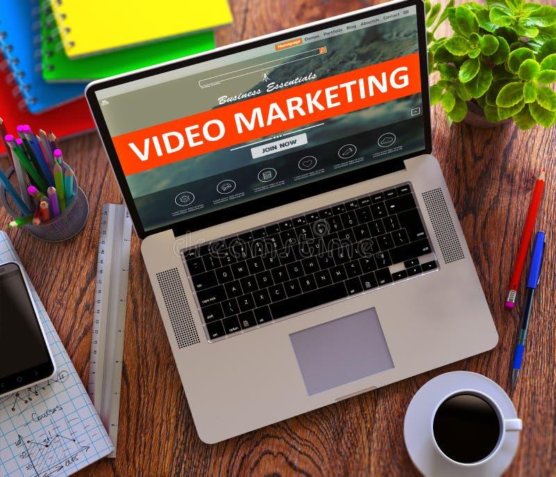 Video marknadsföring Funktionsdugligt begrepp för internet fotografering för bildbyråer