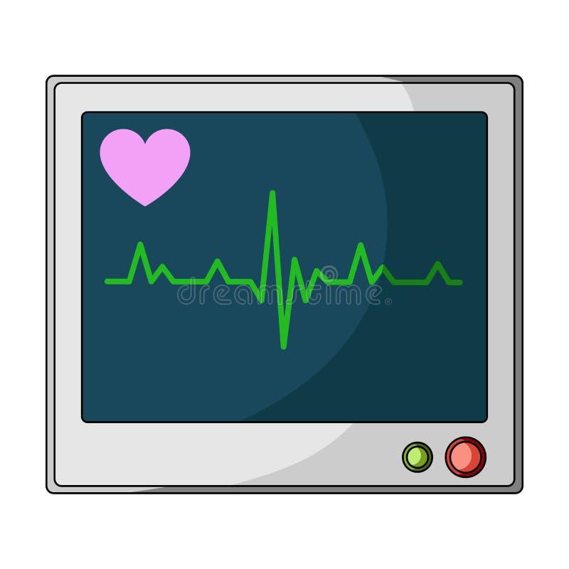 Video medico Singola icona della medicina nel web dell'illustrazione delle azione di simbolo di vettore di stile del fumetto illustrazione di stock