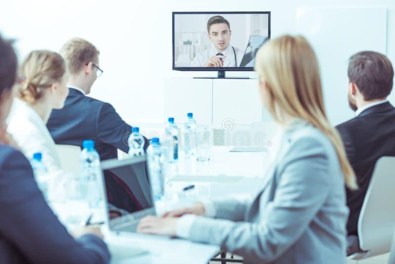 Video medische conferentie royalty-vrije stock foto's