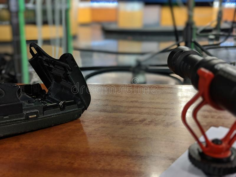 Video microfoni fotografia stock