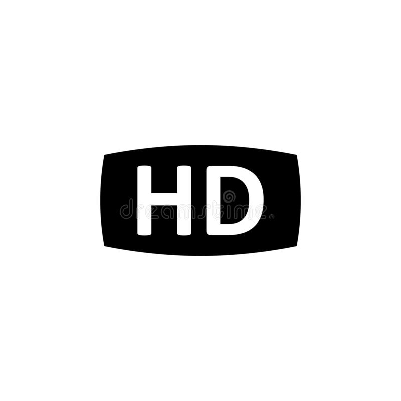 Video movie HD icon. Signs and symbols can be used for web, logo, mobile app, UI, UX royalty free illustration
