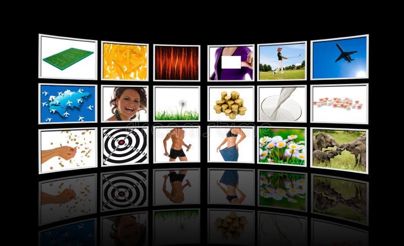 Video muur stock foto's