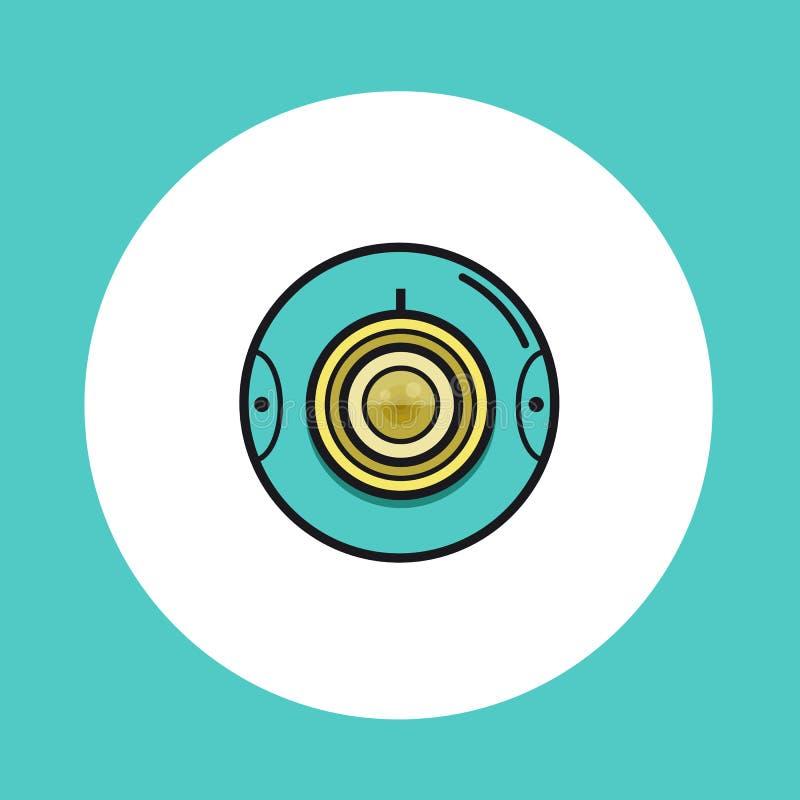 360 Video- oder runde Kameraikone des Netzes stock abbildung