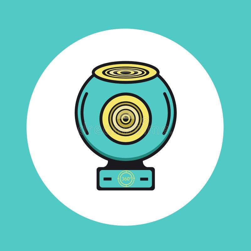 360 Video- oder runde Kameraikone des Netzes lizenzfreie abbildung