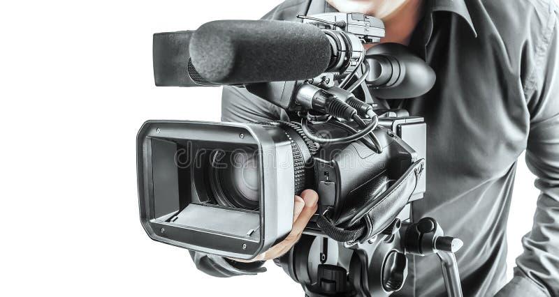 Video operatör royaltyfri foto