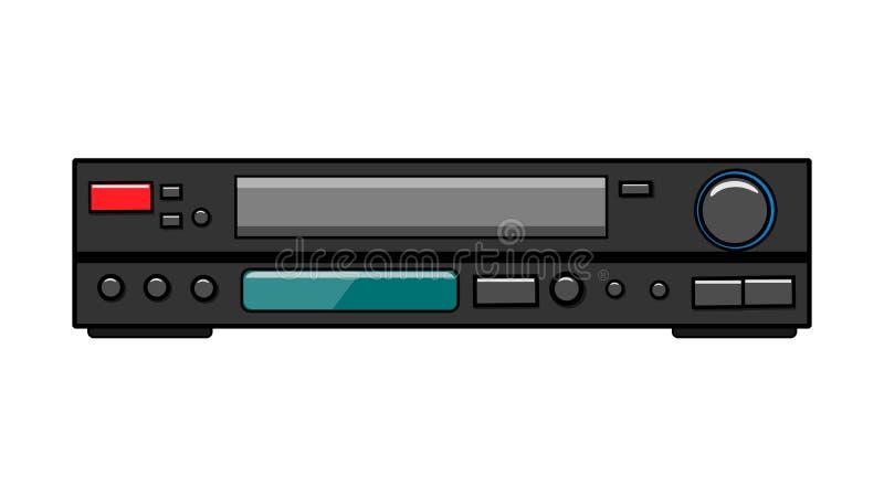Video para las cintas de video para las películas de observación, vídeo del vintage de la antigüedad retra vieja gris del inconfo stock de ilustración