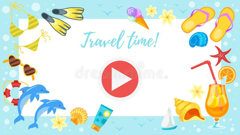 Video And Photo Frame Background Stock Illustration - Illustration ...