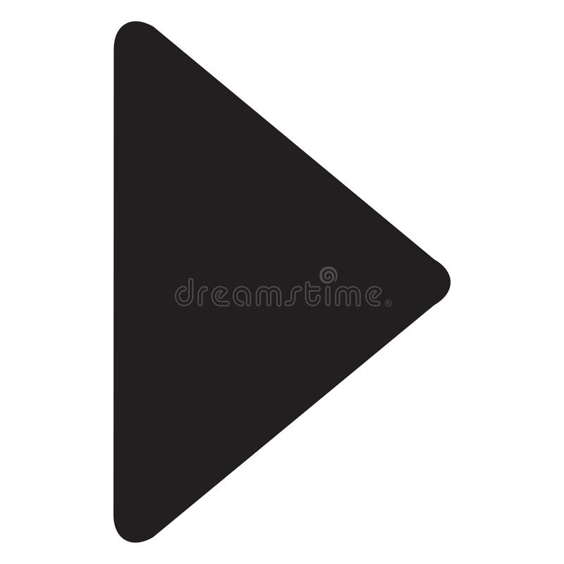 Video play button icon isolated on white background. Video play button icon in trendy design style vector illustration