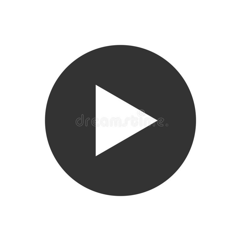 Video play button icon vector for graphic design, logo, web site, social media, mobile app, ui illustration.  vector illustration