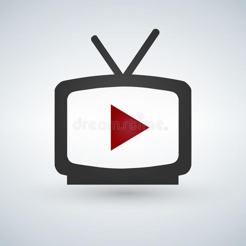 Video play icon. stock illustration