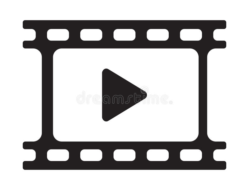 Video play icon. Vector illustration of the video play icon vector illustration