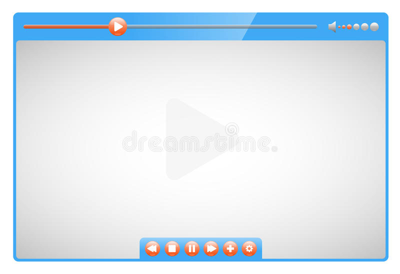 Download Video player stock illustration. Image of interface, multimedia - 25994989