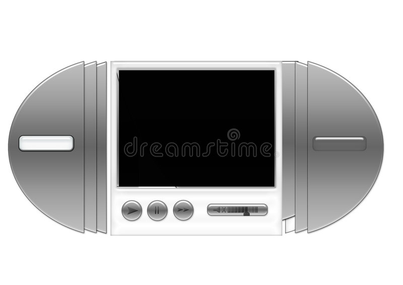 Video-Player stock abbildung