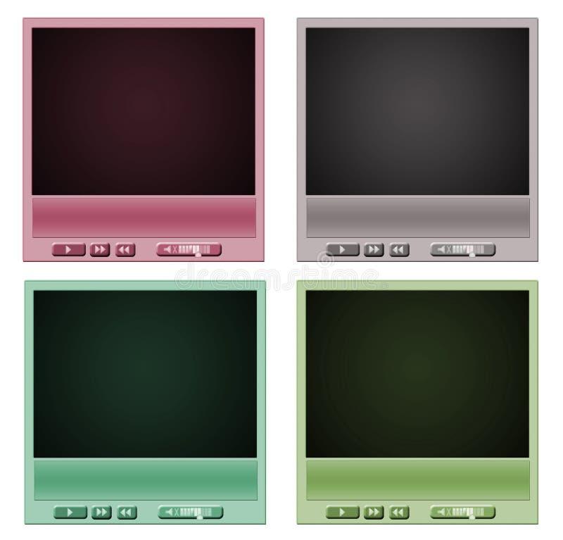 Video-Player vektor abbildung