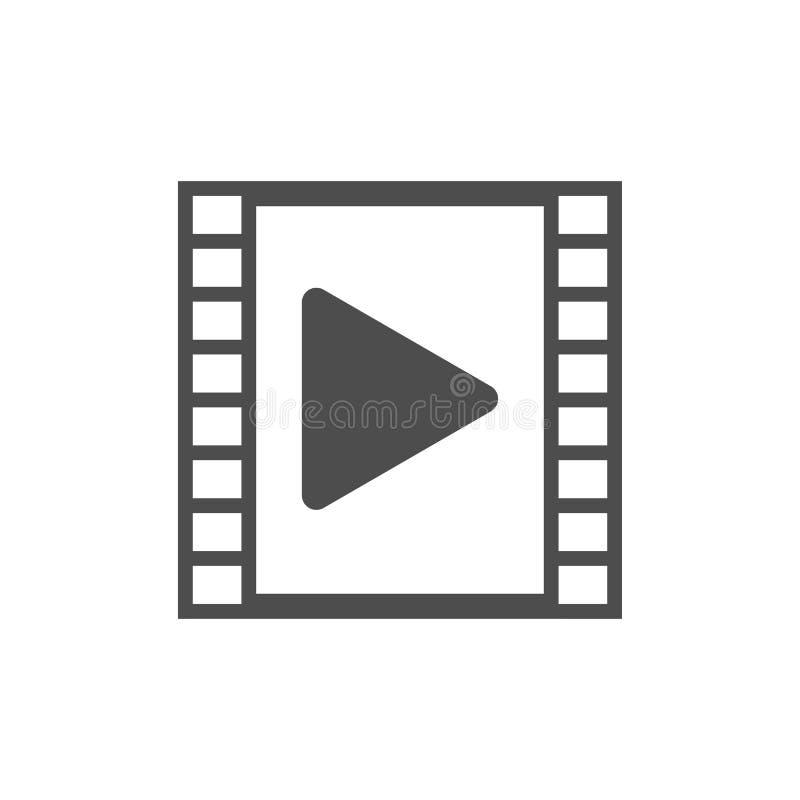 Video player, film strip icon. Vector illustration, flat design. Vector illustration, flat design. Video player icon vector illustration