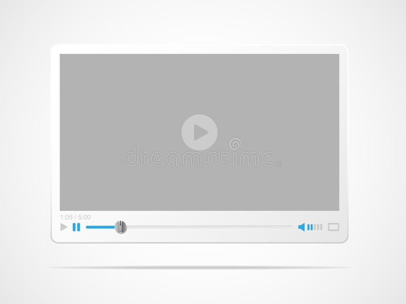 Video player interface. Vector illustration royalty free illustration
