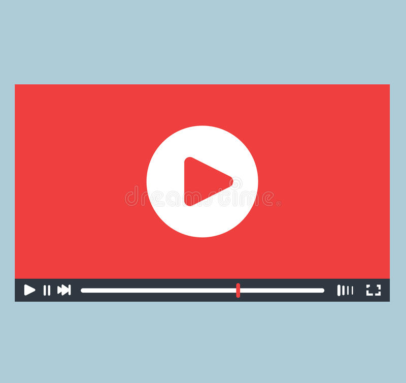 Video Player Interface Design. EPS 8 supported stock illustration