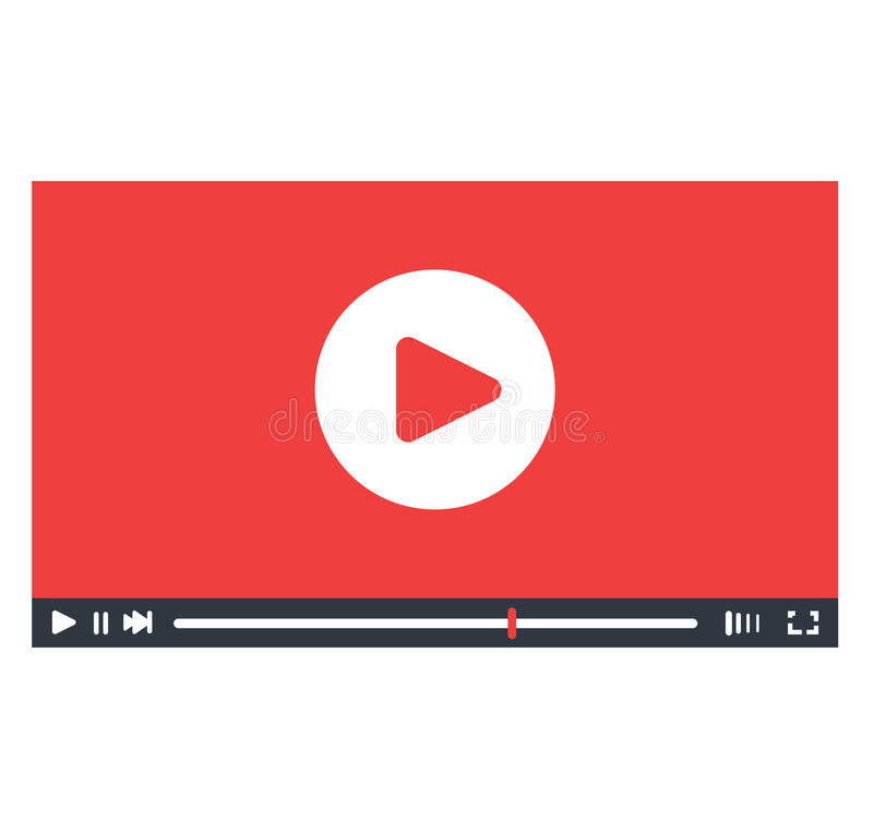 Video Player Interface Design. EPS 8 supported royalty free illustration