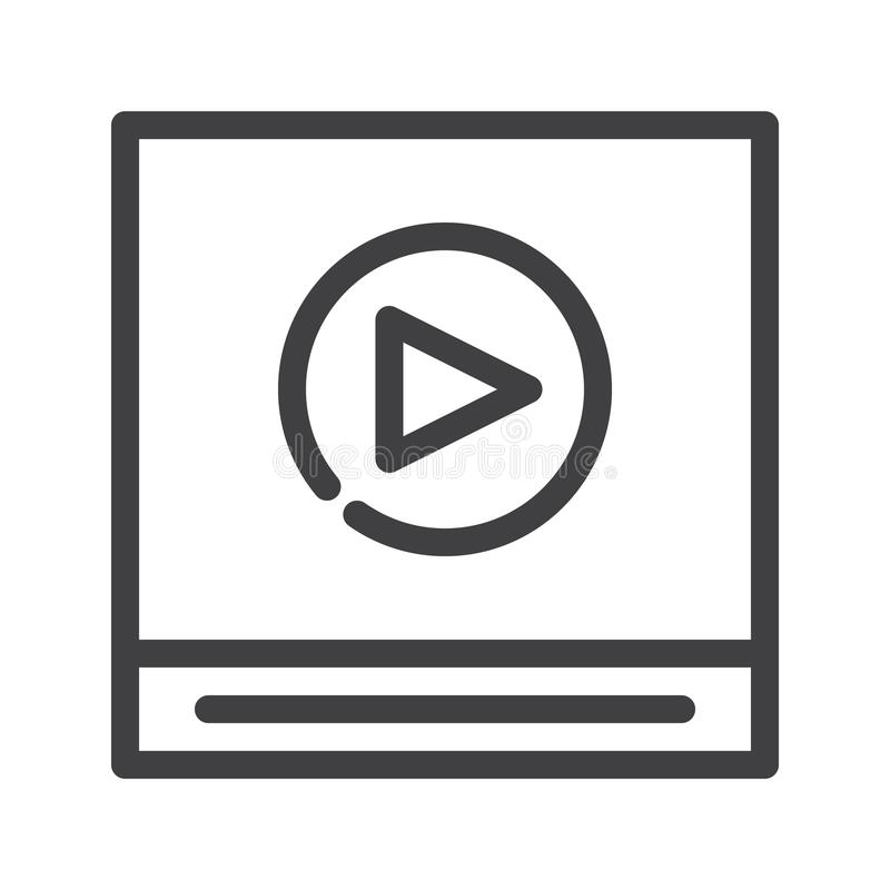 Video player line icon vector illustration