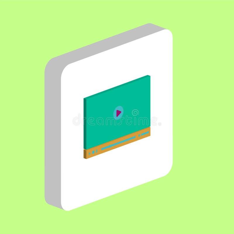 Video player computer symbol vector illustration