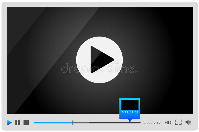 Download Video Player For Web, Minimalistic Design Stock Vector - Illustration: 30482128