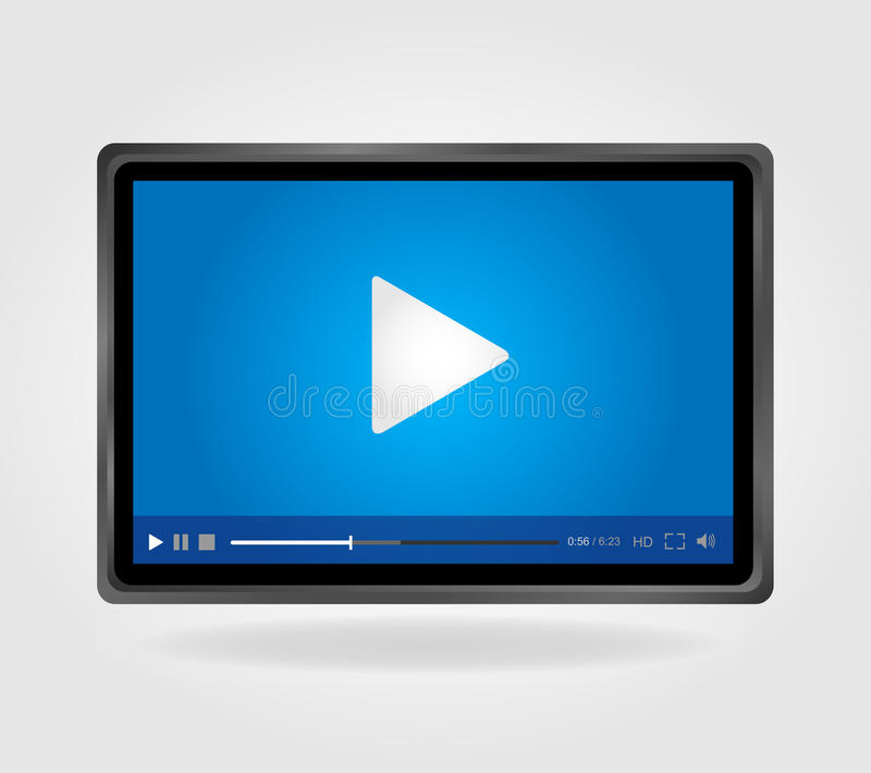 Download Video Player For Web, Minimalistic Design Royalty Free Stock Images - Image: 31142569