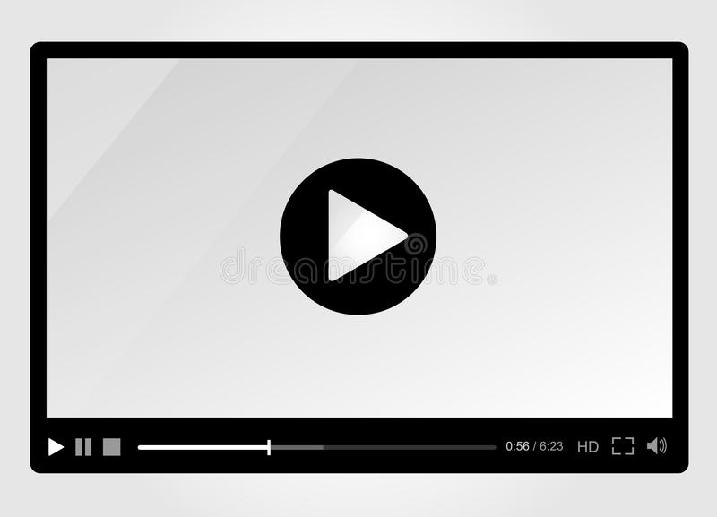 Download Video Player For Web, Minimalistic Design Royalty Free Stock Photos - Image: 36087168