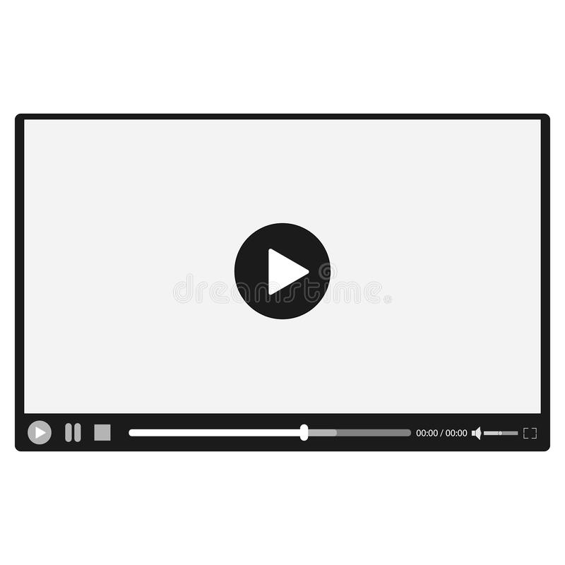 Video player for web site stock vector. Illustration of digital ...