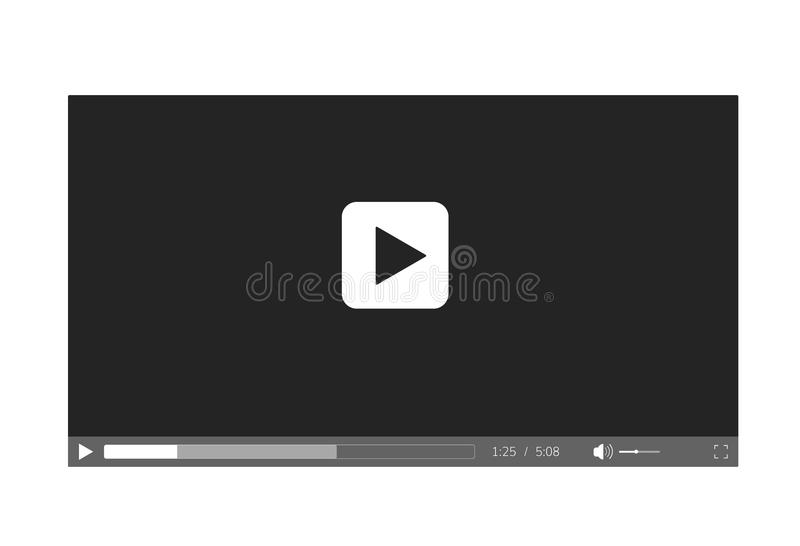 Video player for web site. Video player interface. Video player for web site . Video player interface royalty free illustration