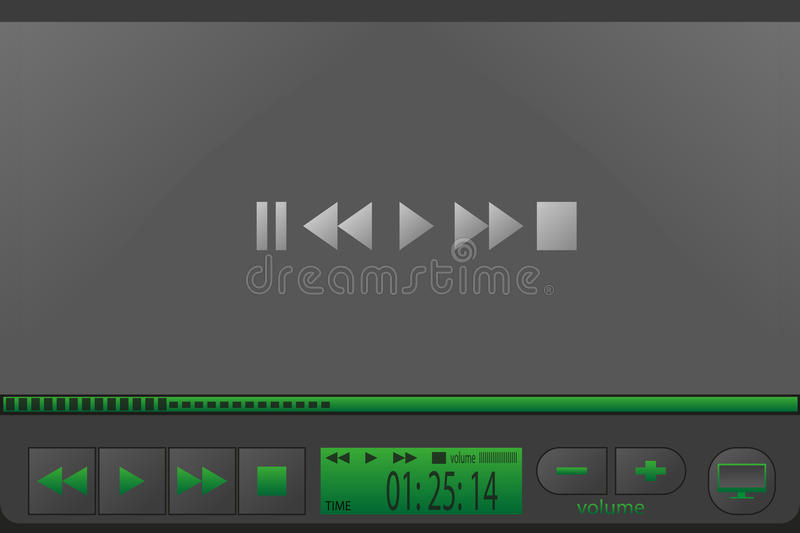 Video player for web royalty free stock photo