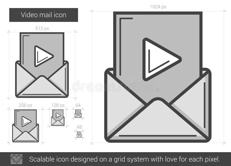 Video postlinje symbol stock illustrationer