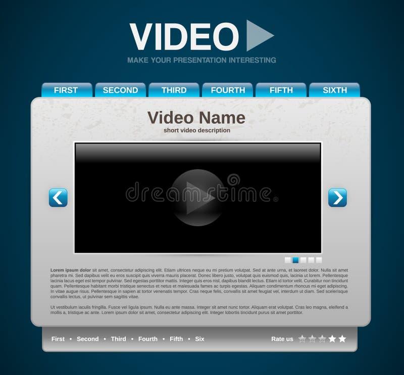 Video presentation website template vector illustration