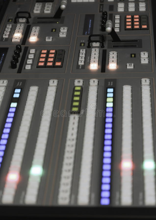 Video Production Switcher Of Television Broadcast Stock