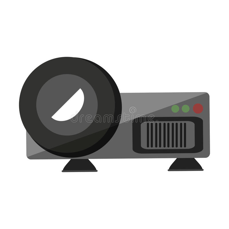 Video projector device isolated icon. Vector illustration design stock illustration