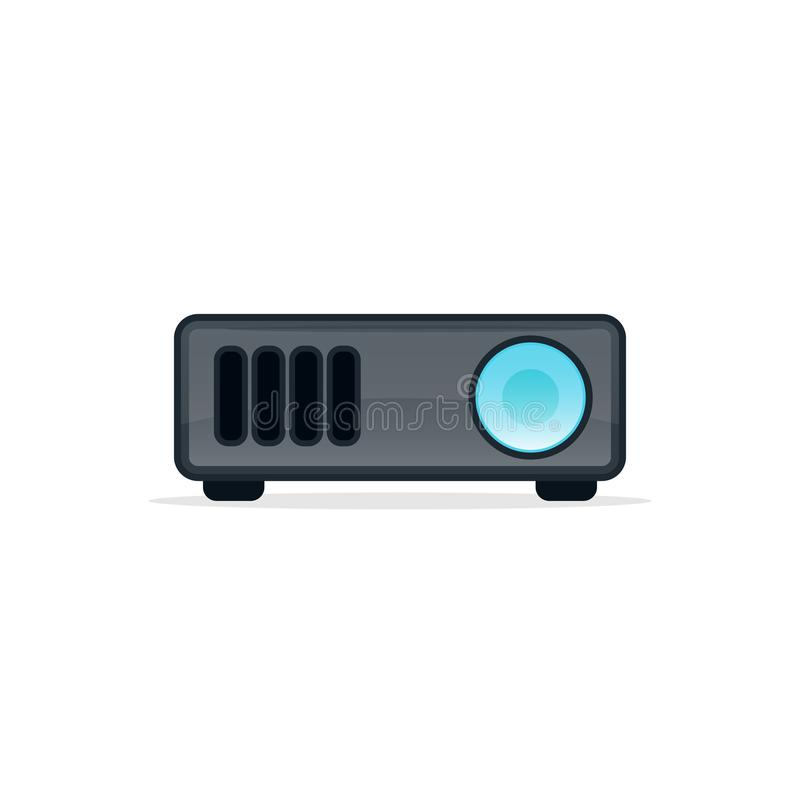 Video projector icon. Clipart image isolated on white background vector illustration