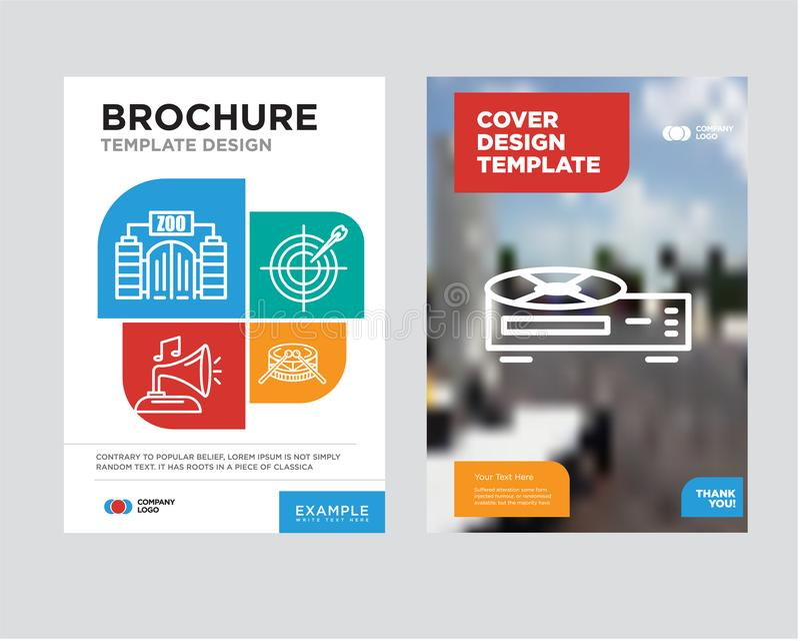 Video Recorder Brochure Flyer Design Template Stock Illustration