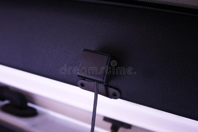 Video recorder to record the traffic situation while driving your car. It can be used both in cars and trucks. royalty free stock image