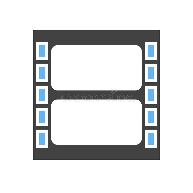 Video, reel, film. Icon vector image. Can also be used for multimedia. Suitable for use on web apps, mobile apps and print media royalty free illustration