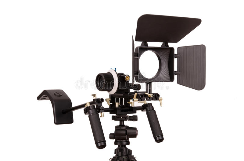 Video rig. Isolated on white stock image