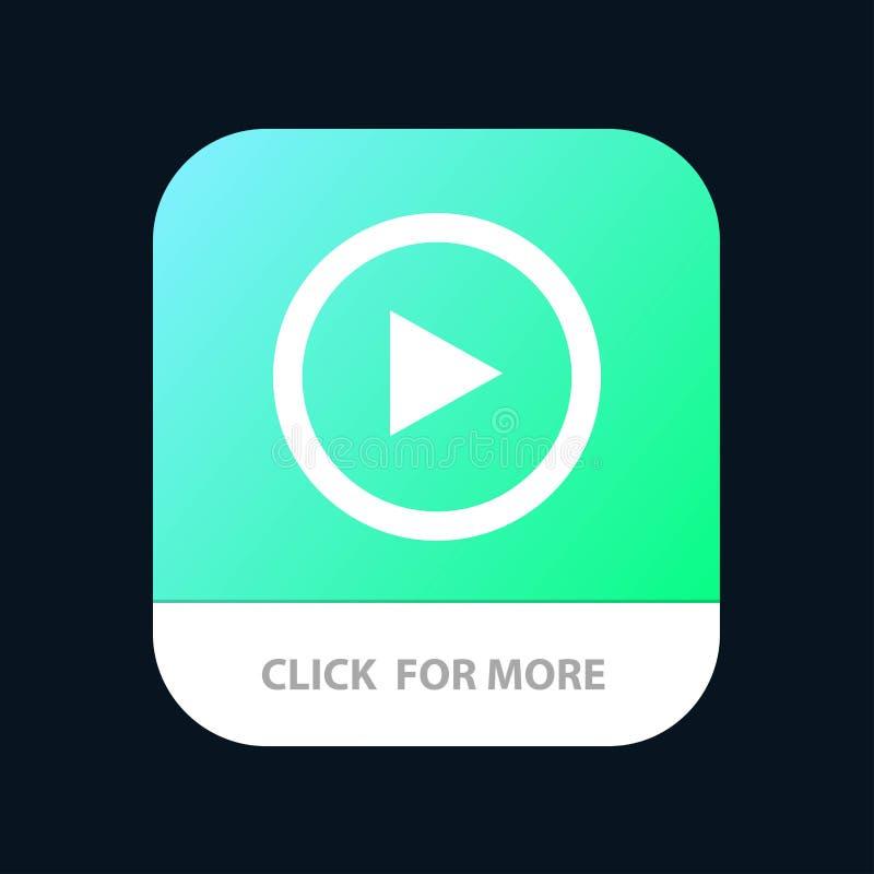 Video, Schnittstelle, Spiel, Benutzer mobiler App-Knopf Android und IOS-Glyph-Version stock abbildung