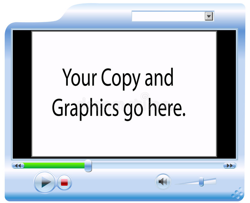 Video Screen Player Background stock illustration