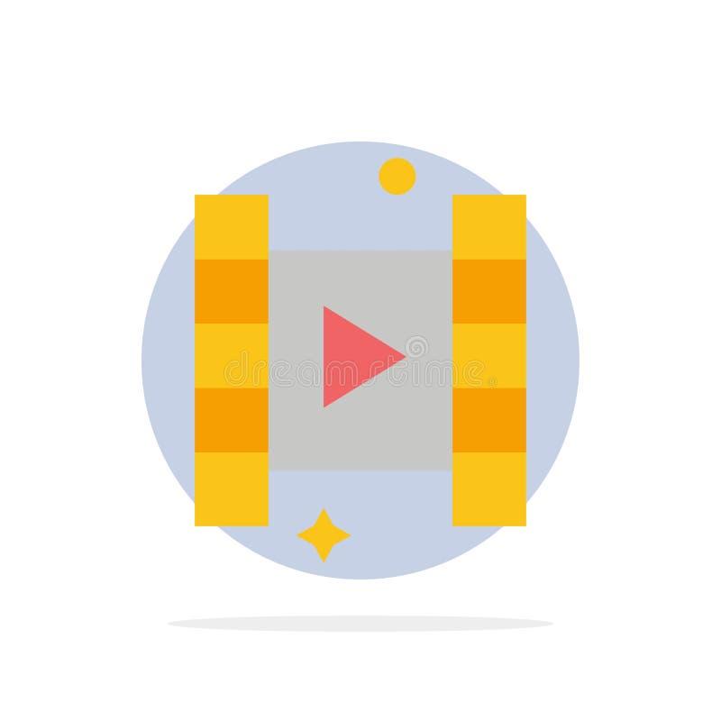 Video, Spel, van de Achtergrond film Abstract Cirkel Vlak kleurenpictogram royalty-vrije illustratie