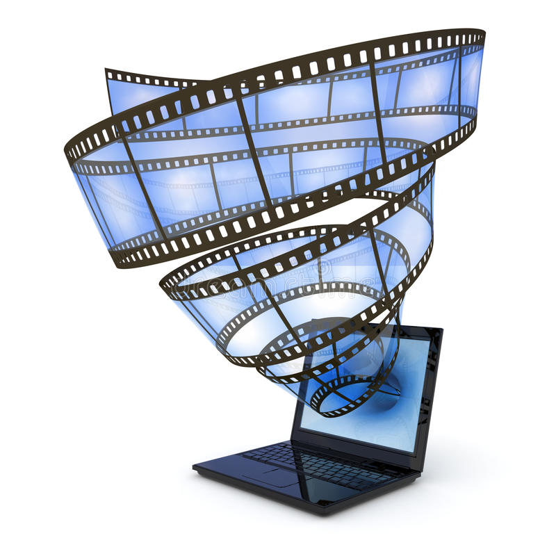 Download Video stream stock illustration. Image of film, blue - 19511041