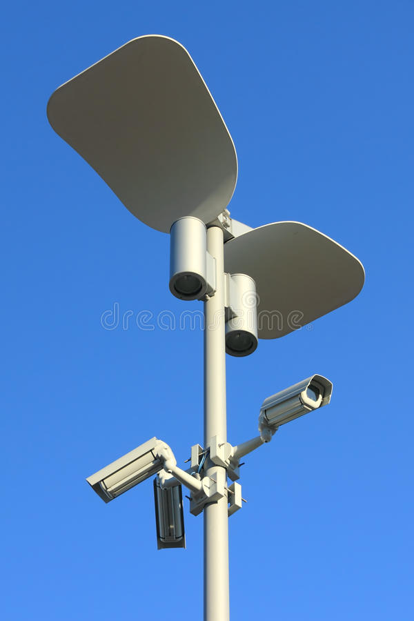 Download Video surveillance stock photo. Image of blue, secure - 18413434