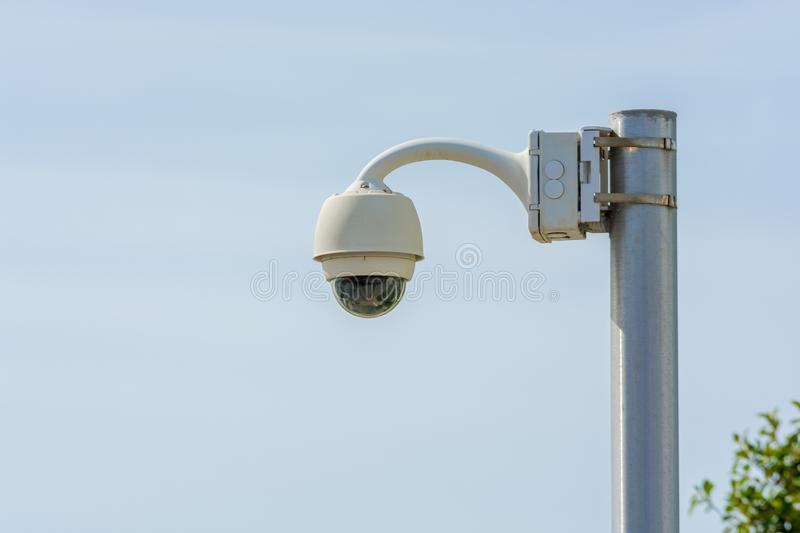 Video surveillance in public spaces royalty free stock images